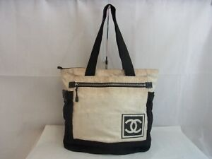Auth VY10 CHANEL sports line backpack 2way bag tote bag from Japan