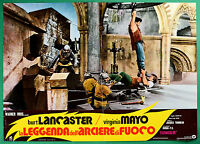 T29 Fotobusta El Leyenda Dell'Arquero Por Fuego Burt Lancaster Virginia Mayo 7
