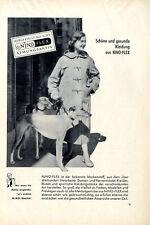 NINO-FLEX MARKENSTOFF DUFFLECOAT WINDHUNDE Reklame von 1954
