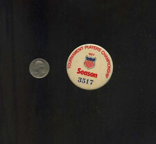 vintage 1977 PGA Golf Players Championship numbered badge button pinback