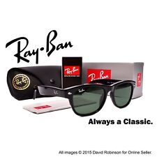 RayBan Sunglasses New Wayfarer Black Frames Classic Green Lenses RB 2132 52 mm