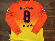 2012 2013 Barcelona New Iniesta L/s Away Football Shirt Adults Large