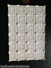 """MN33 Medallion Ceiling Tile Plaster (5.5""""x3.75"""") RepliCast Miniatures DollsHouse"""