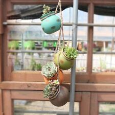 4pcs Ceramic Hanging Plant Pot Wall Ceiling Mount Succulent Pot Garden Décor