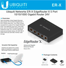 Ubiquiti Networks EdgeRouter ER-X 5-Port Advanced Gigabit Ethernet Router 5W