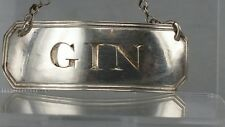 """1811 Georgian silver decanter or bottle label ticket """" gin """""""