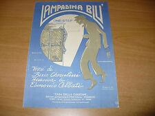 SPARTITO MUSICALE LAMPADINA BLU ONE STEP BIXIO CHERUBINI EDMONDO ABBATI 1923