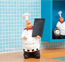 New Home Decor Kitchen Bar Restaurant Ornament Figure Statue Chef Message Board