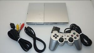 "SONY Playstation2 Slim Console SCPH-90000  "" Silver "" / TESTED 10588"
