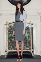 "Roland Mouret ""Nassau"" Black White dress in chain birdseye jacquard knit Dress M"