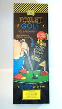 TOILET GOLF GAME Jack The Lad  NOVELTY ADULT REST ROOM FUN Putter Balls Flag Grn
