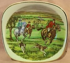 Fox Hunt Hunting Small Square Plate Crown Staffordshire
