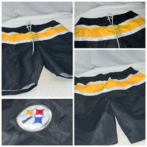 Pittsburgh Steelers NFL Board Shorts Trunks XXL Black Yellow NWOT YGI E1-411