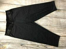 Victoria's Secret Pink Capri Leggings Ultimate Black Crop Logo Waist Pants