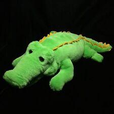 "Dakin Green Yellow Alligator Crocodile Plush Soft Toy 1994 16"" Stuffed"