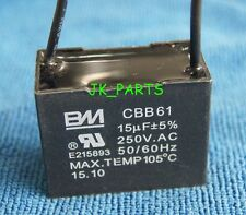 US Seller New BM CBB61 15uF 2 WIRE 250VAC Ceiling Fan Capacitor