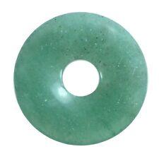 Aventurine Green Donut Pendant GEMSTONE 30 Mm Slice Stone Pi Stone Healing Stone