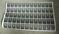 Vintage Sheet of 60 Stamps 1965 New Zealand Christmas Art 3d #374