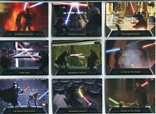 Star Wars Galactic Files Complete Duels Of Fate Chase Card Set DF1-10
