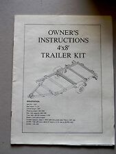 Northern 4X8 Trailer Kit Owner's Instruction Manual- 17 Pages