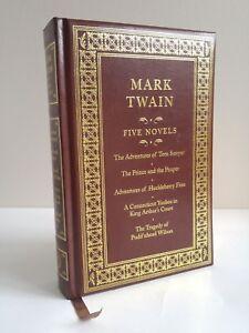 Five Novels - Mark Twain - Sawyer Finn Wilson Yankee Court - Leather Bound 2009