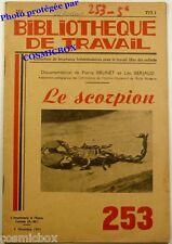 BT Bibliothèque de Travail n° 253 le SCORPION revue pédagogique de 1953 scolaire