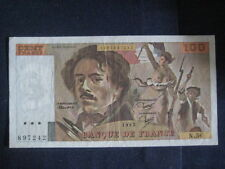 FRANCE 1968-81 ISSUE - 100 FRANCS - DELACROIX - DATED 1982, P154b - VF