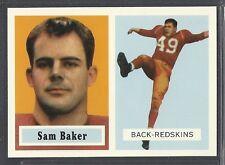 1994 Topps Archives - 1957 Topps Reprint - #72 - Sam Baker - Redskins
