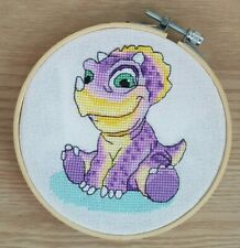 LILAC DINOSAUR - Counted cross stitch kit (with DMC threads)
