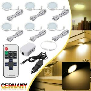 6× LED Schrank Licht Schrank Beleuchtung Unterschrank Lichter Küche Licht Lampe