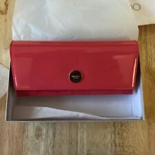 Jimmy Choo Flamingo Pink Patent Leather & Suede Fie Clutch Handbag
