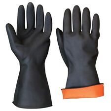 Large Industrial RUBBER GLOVES Non-Slip Latex Grip Durable Chemical Resistant
