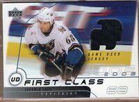 JAROMIR JAGR 2002/03 UD Upper Deck GAME JERSEY Card Washington Capitals HOF!