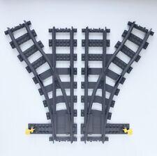 Lego City Train Track - Lego Left & Right Switching Track Turning Junction Set