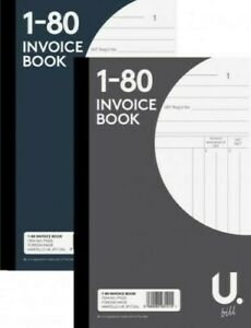 """INVOICE OR DUPLICATE BOOK PAD NUMBERED 1-80 PAGE 5""""x8"""" CARBON COPY RECEIPT ORDER"""