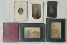 Antique Embossed Leather Metal Paper Picture Photo Frame Holders Lot