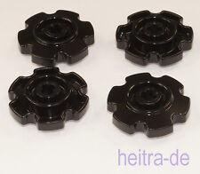 LEGO Technik - 4 x Antriebsrad für Ketten, Zahnrad, 4x4 schwarz / 57520 NEUWARE