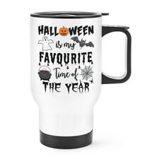 Halloween Is My Favourite Time Of The Year Travel Mug Cup With Handle Ghost