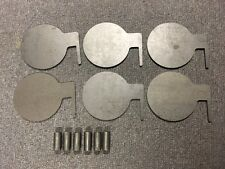 "AR500 Steel Target Dueling Tree DIY Kit 6pc 6"" x 3/8 Pad W Tubes IDPA! USA MADE!"