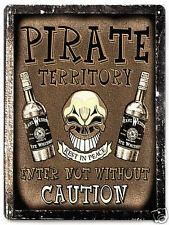 PIRATE WHISKEY MANCAVE METAL sign bottle VINTAGE style wall decor plaque 261