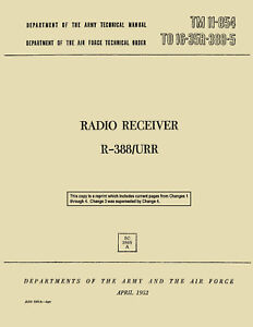REPRINT TM 11-854 RADIO RECEIVER R-388/URR