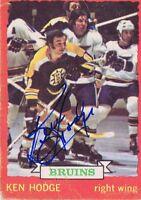 Ken Hodge 1973 OPC Autograph #26 Bruins