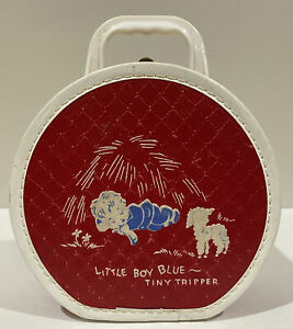 Vintage Tiny Tripper Little Blue Boy Round Suitcase Luggage