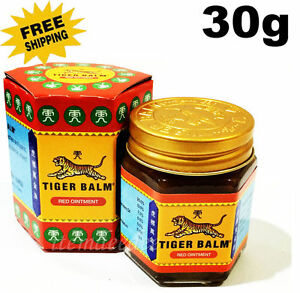 30 g Tiger Balm Red Relief of Muscular Aches Pain Sprains Ointment Massage Rub