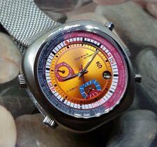 mesh band Nos-Style unworn Sorna automatic watch orange version