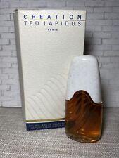 Vintage Creation Ted Lapidus Eau de Toilette 1oz NIB Unsealed B2