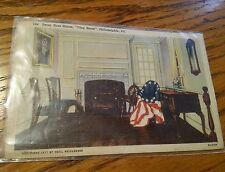 """Betsy Ross House """"Flag Room"""" , Philadelphia, PA post card"""