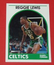 # 17 REGGIE LEWIS BOSTON CELTICS 1989 NBA HOOPS BASKETBALL CARD