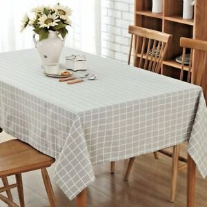 Tischdecke Leinen Tischtuch Decke abwaschbar rechteckig verschiedene Motive