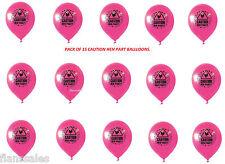 15 Paquet de enterrement vie Jeune Fille Ballons avec ATTENTION thème ROSE